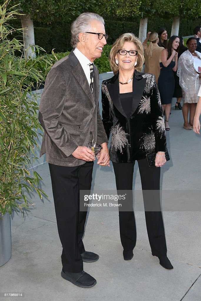 Richard Perry and actress Jane Fonda attend UCLA IOES celebration of the Champions of our Planet's Future on March 24, 2016 in Beverly Hills, California.