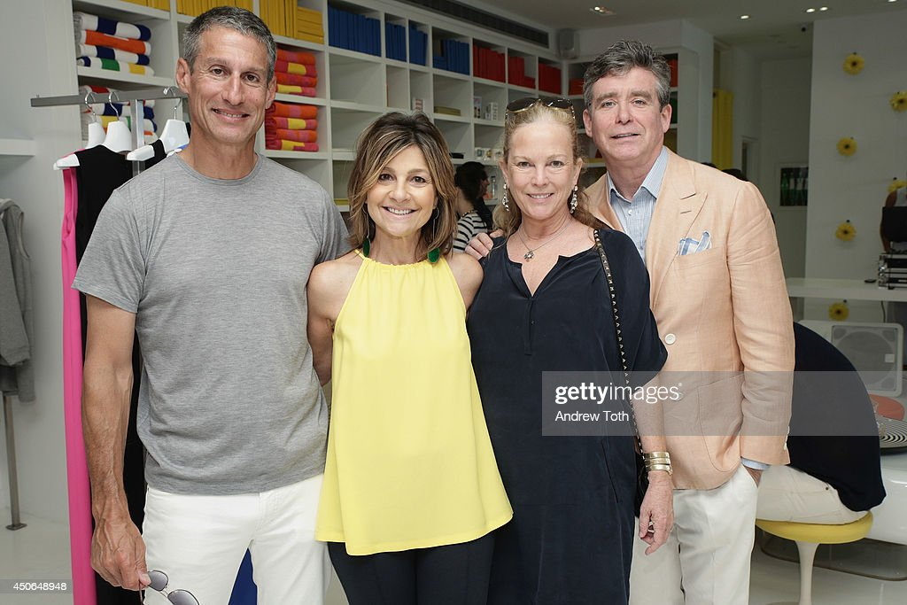 Richard Perry designer Lisa Perry Anne McInerney and author Jay McInerney attend Hamptons Magazine celebrates The New Lisa Perry store on June 14...