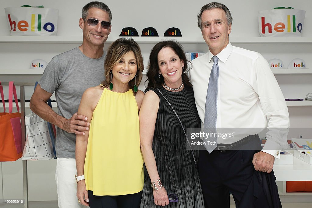 Richard Perry designer Lisa Perry Ellen Gendler and James Salik attend Hamptons Magazine celebrates The New Lisa Perry store on June 14 2014 in East...