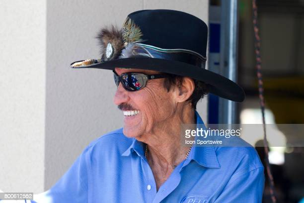 Richard Petty greets a fan at the Toyota/Save Mart 350 practice on June 23 2017 at Sonoma Raceway in Sonoma CA
