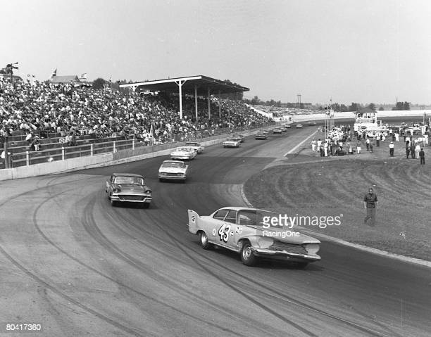 Richard Petty in 1960 won his first of a record 15 races at Martinsville Shown is the 1960 Plymouth he drove for his family's Petty Enterprises