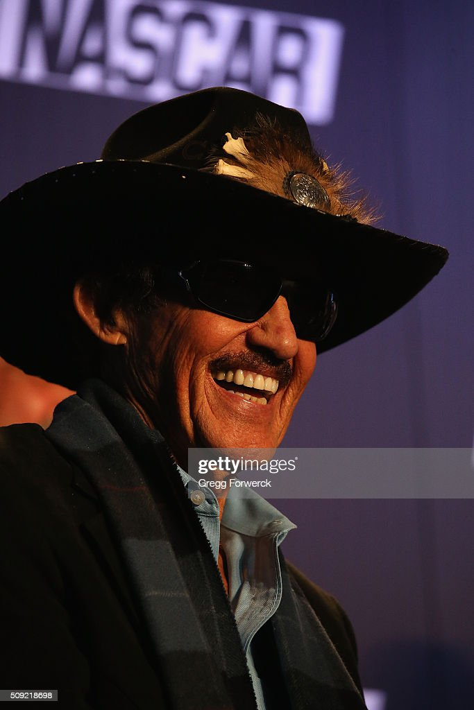 <a gi-track='captionPersonalityLinkClicked' href=/galleries/search?phrase=Richard+Petty&family=editorial&specificpeople=208957 ng-click='$event.stopPropagation()'>Richard Petty</a> owner of <a gi-track='captionPersonalityLinkClicked' href=/galleries/search?phrase=Richard+Petty&family=editorial&specificpeople=208957 ng-click='$event.stopPropagation()'>Richard Petty</a> Motorsports addresses the media at Charlotte Convention Center on February 9, 2016 in Charlotte, North Carolina.