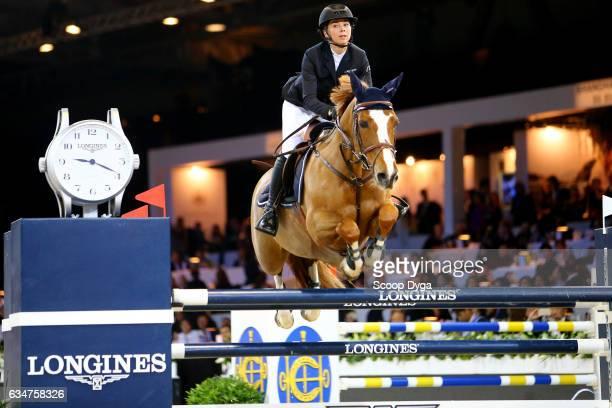 Richard Philips Jane of Switzerland riding ZEKINA Z during the Longines Masters of Hong Kong on February 11 2017 in Hong Kong Hong Kong