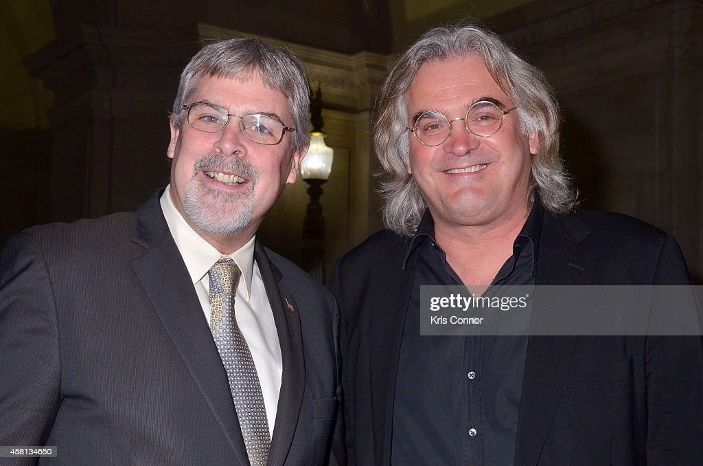 Richard Phillips and <a gi-track='captionPersonalityLinkClicked' href=/galleries/search?phrase=Paul+Greengrass&family=editorial&specificpeople=240256 ng-click='$event.stopPropagation()'>Paul Greengrass</a> attend the 2nd Annual America Abroad Media Awards Dinner at Andrew W. Mellon Auditorium on October 30, 2014 in Washington, DC.