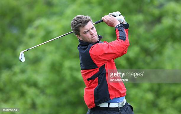 KINGDOM JUNE 02 Richard Pickard of Loretto School Golf Academy tee's off at the first during the Powerade PGA Assistants' Championship Scottish...