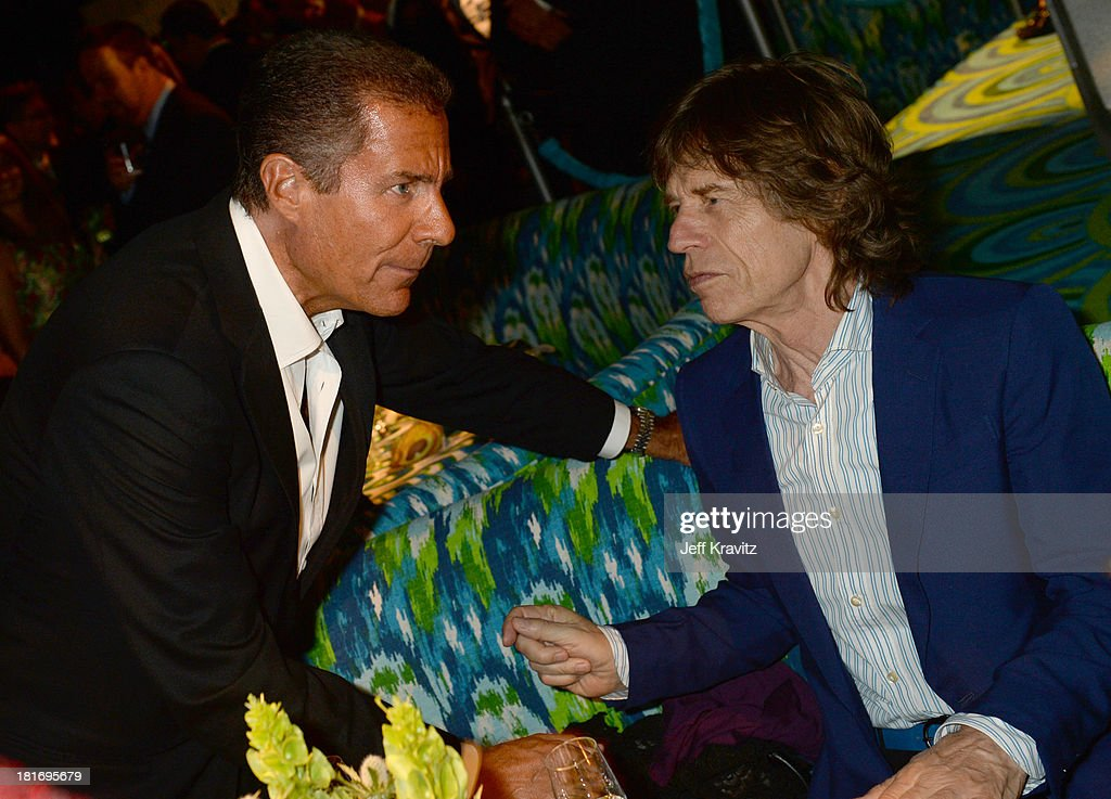 Richard Plepler (L) and musician Mick Jagger attend HBO's official Emmy after party at The Plaza at the Pacific Design Center on September 22, 2013 in Los Angeles, California.