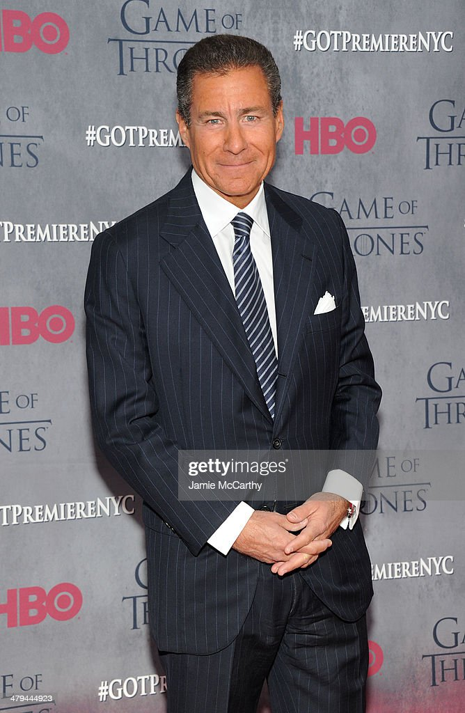 Richard Plepler attends the 'Game Of Thrones' Season 4 New York premiere at Avery Fisher Hall Lincoln Center on March 18 2014 in New York City