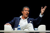 Richard Plepler chief executive officer of Home Box Office Inc gestures during a panel session the Cannes Lions International Festival Of Creativity...