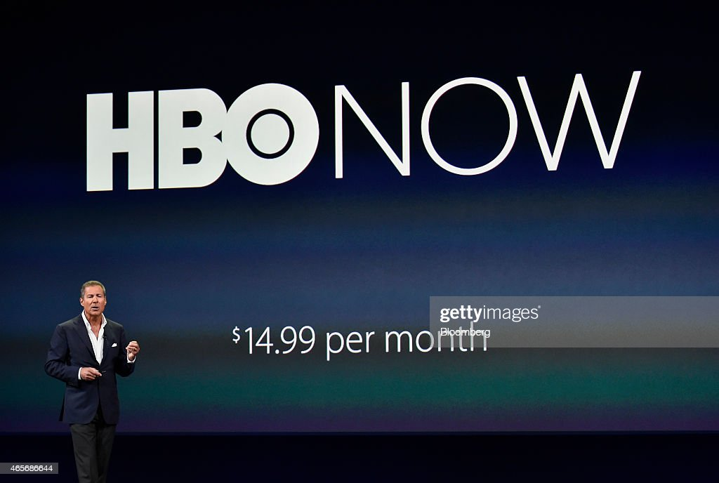 Richard Plepler chief executive officer of Home Box Office Inc speaks during the Apple Inc Spring Forward event in San Francisco California US on...