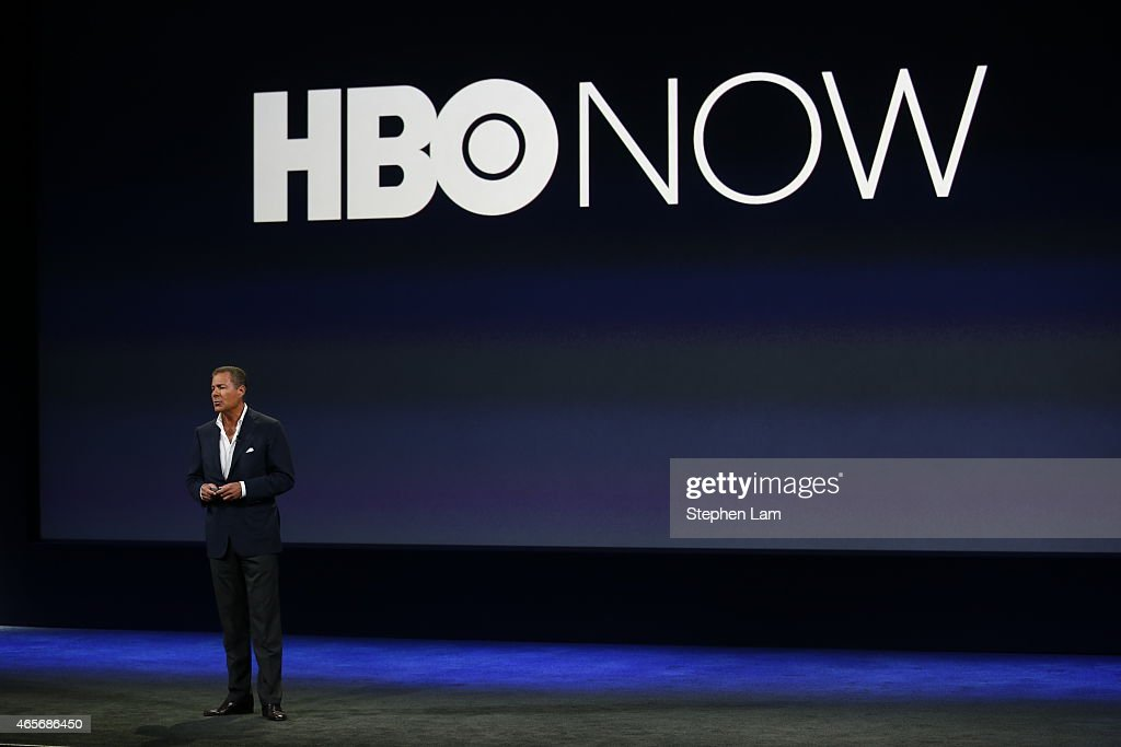 Richard Plepler speaks on stage during an Apple special event at the Yerba Buena Center for the Arts on March 9 2015 in San Francisco California...