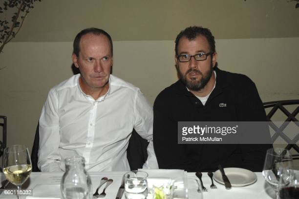 Richard Prince and James Frey attend SHE Images of women by Wallace Berman and Richard Prince Opening at Michael Kohn Gallery on January 15 2009 in...