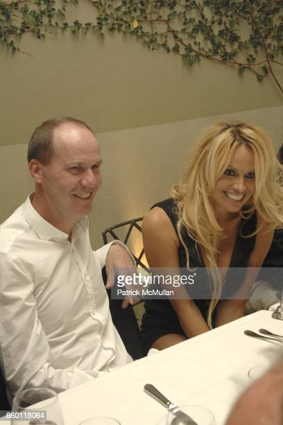 Richard Prince and Pamela Anderson attend SHE Images of women by Wallace Berman and Richard Prince Opening at Michael Kohn Gallery on January 15 2009...