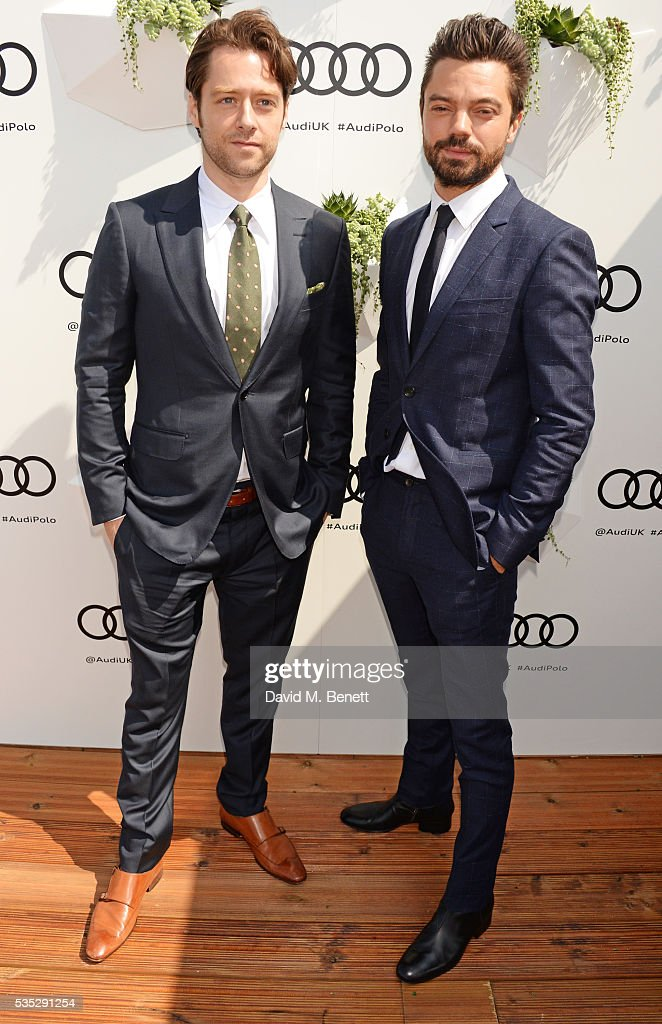 Richard Rankin (L) and <a gi-track='captionPersonalityLinkClicked' href=/galleries/search?phrase=Dominic+Cooper&family=editorial&specificpeople=863047 ng-click='$event.stopPropagation()'>Dominic Cooper</a> attend day two of the Audi Polo Challenge at Coworth Park on May 29, 2016 in London, England.