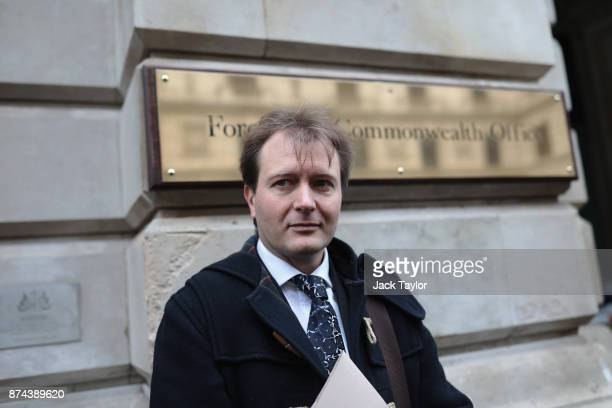 Richard Ratcliffe the husband of the detained BritishIranian woman Nazanin ZaghariRatcliffe arrives at the Foreign and Commonwealth Office to meet...