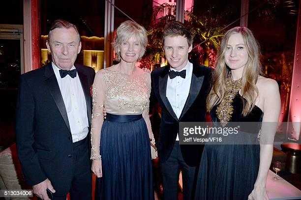 Richard Redmayne Patricia Redmayne actor Eddie Redmayne and Hannah Redmayne attend the 2016 Vanity Fair Oscar Party Hosted By Graydon Carter at the...