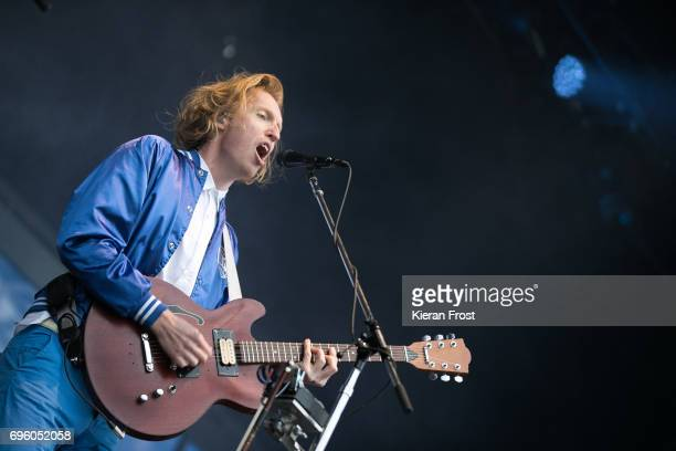 Richard Reed Parry of Arcade Fire performs at Malahide Castle on June 14 2017 in Dublin Ireland