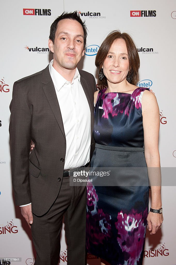 Richard Robbins (L) and Holly Gordon attend the 'Girl Rising' premiere at The Paris Theatre on March 6, 2013 in New York City.