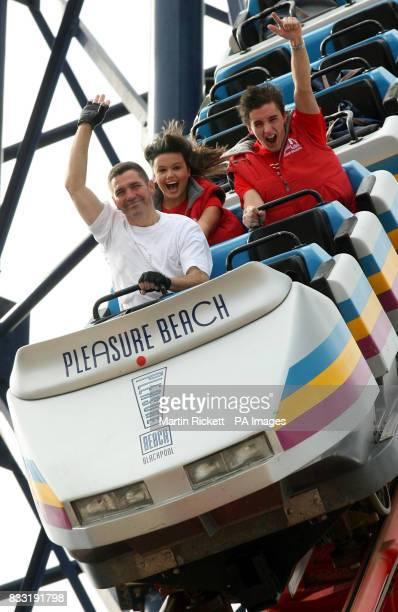 Richard Rodriguez begins his rollercoaster marathon world record attempt on Blackpool Pleasure Beach's Pepsi Max Big One