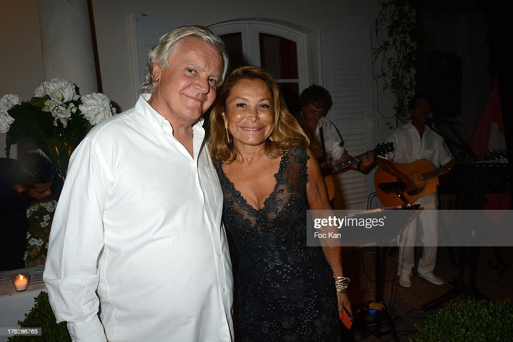 Richard Roizen and his wife attend the Massimo Gargia's Party hosted by Richard Roizen at Villa Les Acanthes In Saint-Tropez on August 11, 2013 in Saint Tropez, France.