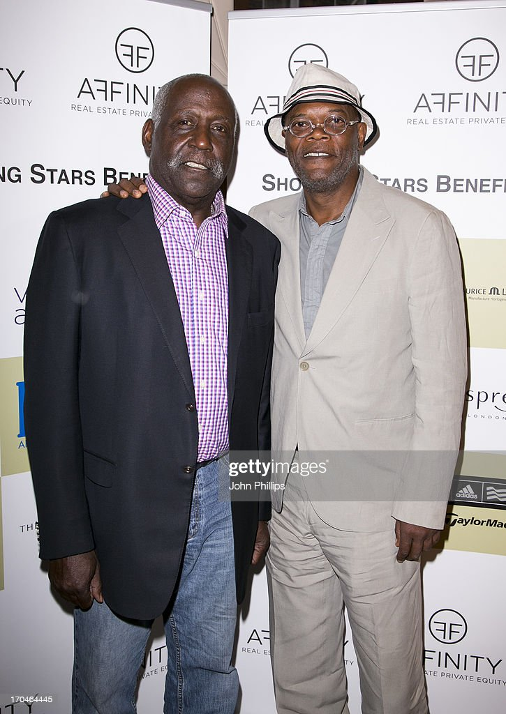 <a gi-track='captionPersonalityLinkClicked' href=/galleries/search?phrase=Richard+Roundtree&family=editorial&specificpeople=618703 ng-click='$event.stopPropagation()'>Richard Roundtree</a> and Samuel Jackson attend the Affinity Real Estate Shooting Stars Benefit Welcome Pairing Dinner at Asprey, New Bond Street on June 13, 2013 in London, England.