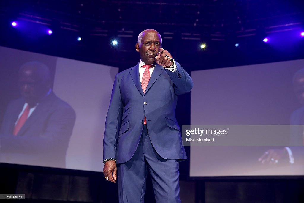 Richard Roundtree on the catwalk during One For The Boys Fashion Ball hosted by Samuel L. Jackson, uniting men against cancer to kick start London Collections Men at The Roundhouse on June 12, 2015 in London, England.