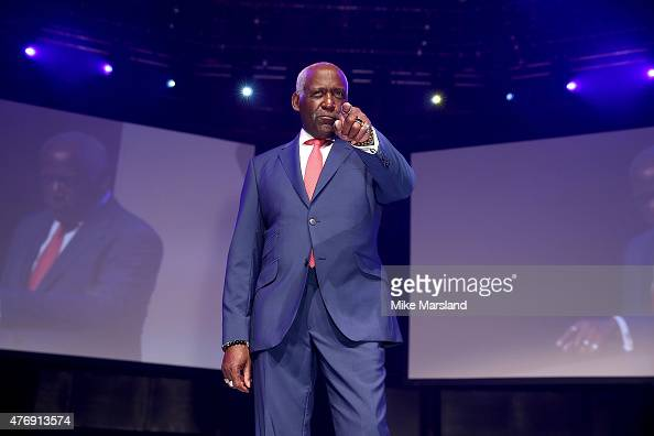 Richard Roundtree on the catwalk during One For The Boys Fashion Ball hosted by Samuel L Jackson uniting men against cancer to kick start London...
