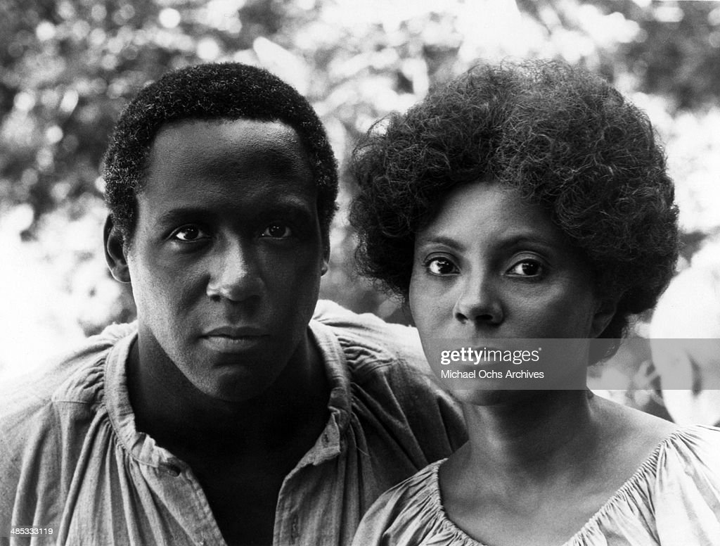 Richard Roundtree plays a slave who brings love fleetingly into the life of Leslie Uggams in the 6th segment of the TV miniseries 'Roots' which aired...
