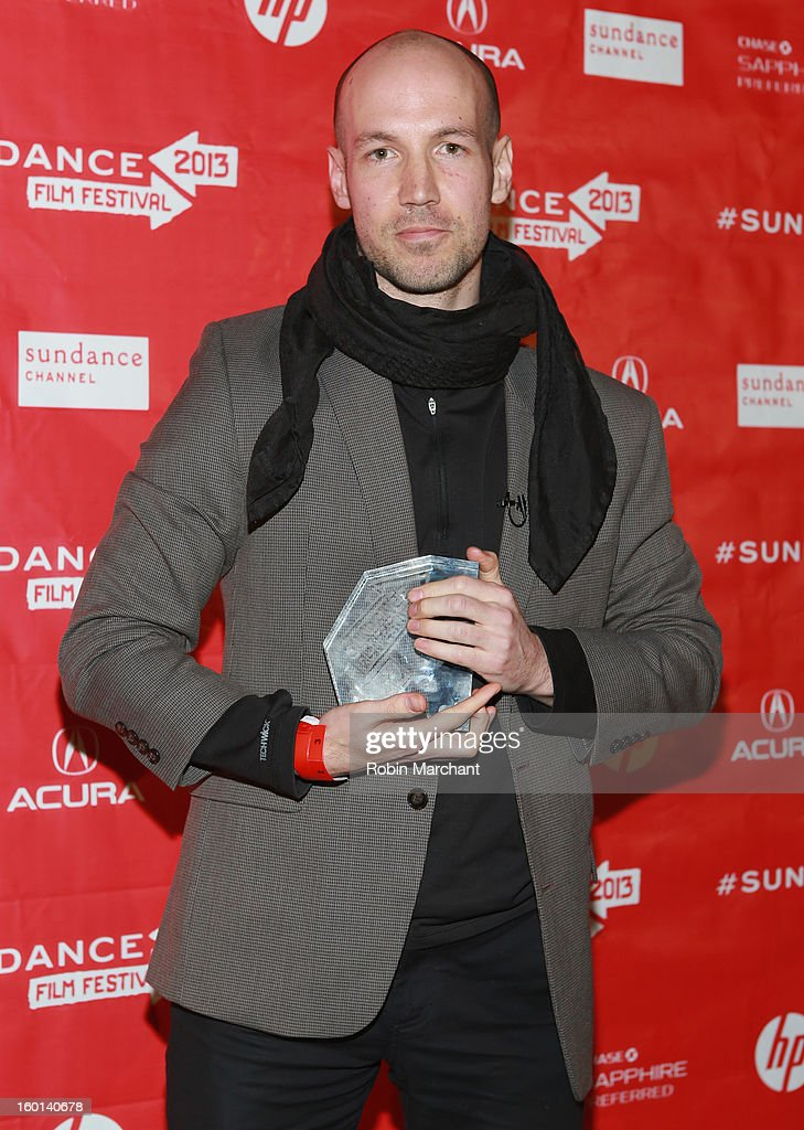 Richard Rowley the Winner of the Cinematography Award: U.S. Documentary for Dirty Wars poses with award at the Awards Night Ceremony during the 2013 Sundance Film Festival at Basin Recreation Field House on January 26, 2013 in Park City, Utah.