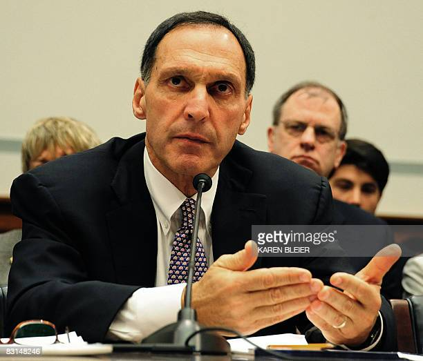 Richard S Fuld Jr chief executive officer of Lehman Brothers testifies before the US House Oversight and Government Reform Committee October 6 2008...
