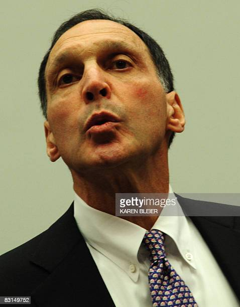 Richard S Fuld Jr chief executive officer of Lehman Brothersarrives to testify before the US House Oversight and Government Reform Committee October...