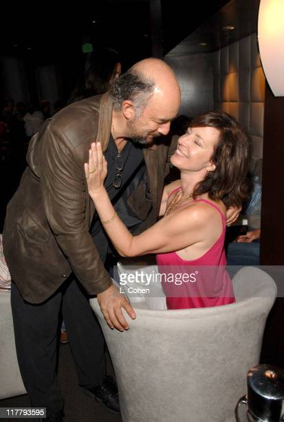 Richard Schiff and Allison Janney during Hotel Angeleno Grand Opening at Hotel Angeleno in Los Angeles California United States