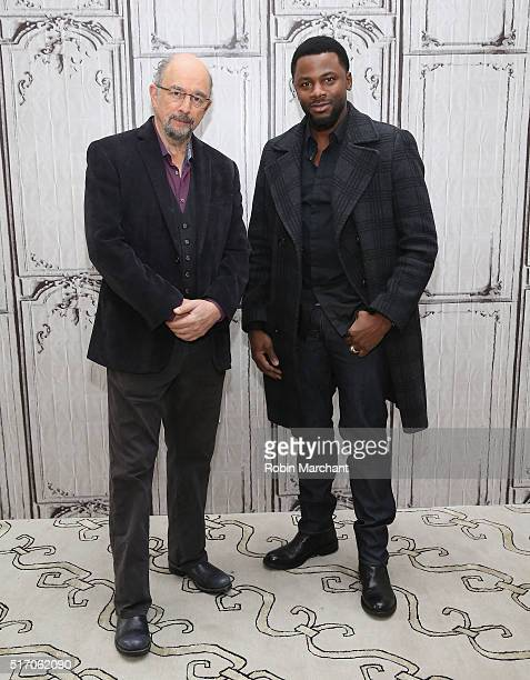 Richard Schiff and Derek Luke attend AOL Build Speaker Series Cole Hauser Richard Schiff And Derek Luke 'Rogue' at AOL Studios In New York on March...
