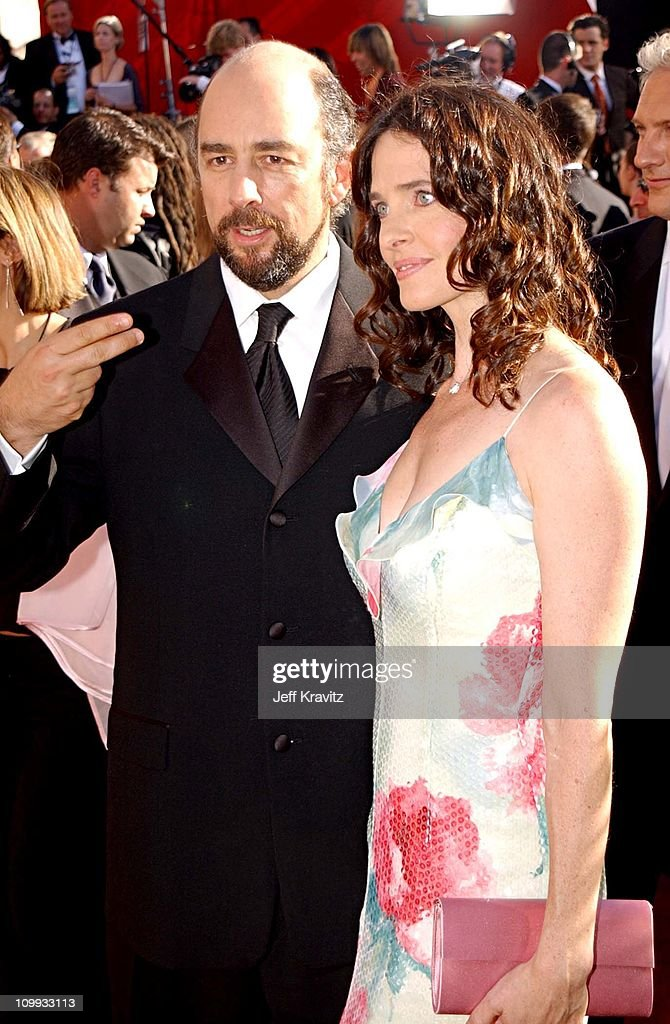 Richard Schiff and wife Sheila Kelley during The 54th Annual Primetime Emmy Awards - Arrivals at The Shrine Auditiorium in Los Angeles, California, United States.