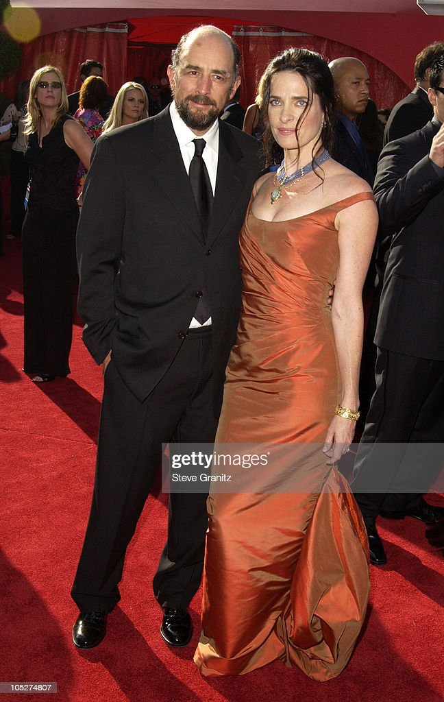Richard Schiff and wife Sheila Kelley during The 55th Annual Primetime Emmy Awards - Arrivals at The Shrine Theater in Los Angeles, California, United States.