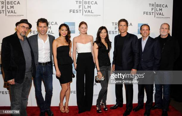 Richard Schiff Eric McCormack Jamie Chung Jennifer Morrison Michelle Krisiec Rob Lowe Chris Lehane and Bill Guttentag attend the premiere of 'Knife...