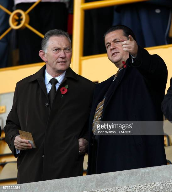 Richard Scudamore Chief Executive of the Premier League and Wolverhampton Wanderers Chief executive officer Jez Moxey