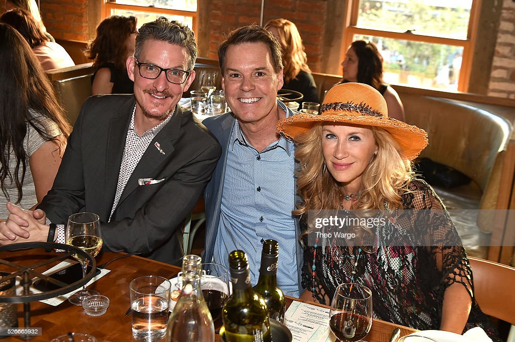 Richard Shaw, Patrick Lawler and Ellen Westbrook, attends a VIP 'Out On A Limb' dinner at Catch on April 30, 2016 in New York City prior to his May 2, 2016 Lincoln Center 'Out On A Limb' Concert benefiting his charity 'Janie's Fund'