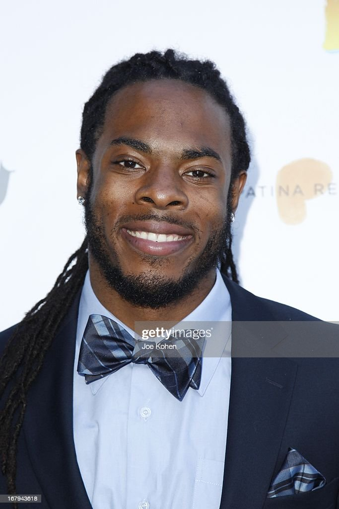 <a gi-track='captionPersonalityLinkClicked' href=/galleries/search?phrase=Richard+Sherman+-+American+Football+Player&family=editorial&specificpeople=9857648 ng-click='$event.stopPropagation()'>Richard Sherman</a> attends a Better LA celebrates 10 Years With 'An Evening With A View' Gala at AT&T Center on May 2, 2013 in Los Angeles, California.