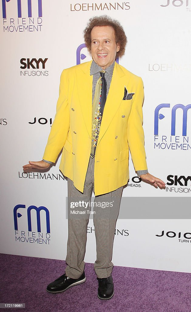 Richard Simmons arrives at the Friend Movement Campaign benefit concert held at El Rey Theatre on July 1, 2013 in Los Angeles, California.