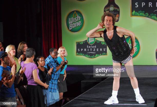 Richard Simmons during Richard Simmons Hosts 'Puttin' on the Spritz' WishBone Summer Salad Fashion Show at Grand Central Station in New York City New...