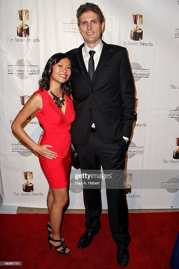 Richard Smith and guest arrive at the 40th Annual Annie Awards held at Royce Hall on the UCLA Campus on February 2, 2013 in Westwood, California.