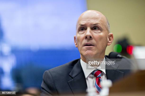Richard Smith former chairman and chief executive officer of Equifax Inc speaks during a House Energy and Commerce Committee hearing in Washington DC...