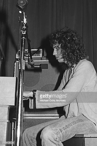 Richard Sohl of the Patti Smith Group performs in November 1974 at the Whisky a Go Go in Los Angeles California