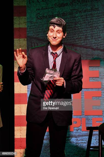 Richard Spitaletta performs onstage during the 'ME THE PEOPLE The Trump America Musical' Press Preview Presentation at The Triad Theater on June 21...