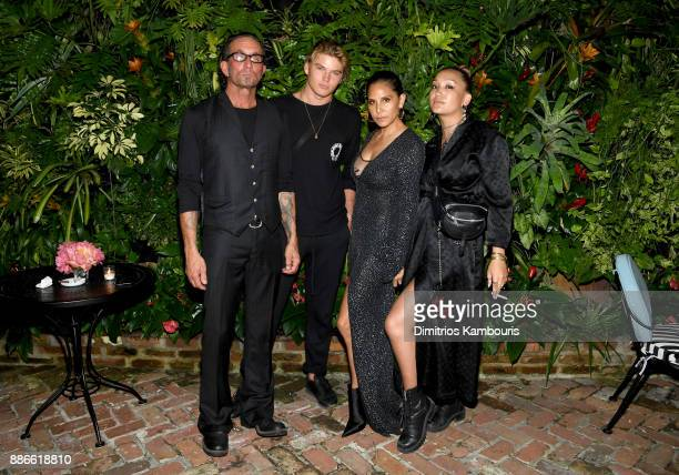 Richard Stark Jordan Barrett Laurie Lynn Stark and Alana O'Herlihy attend the opening of the new Chrome Hearts Gallery Cafe to celebrate their 3Year...