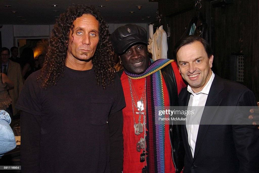 Richard Stark Moko and Stanislas de Quercize attend CHROME HEARTS Party for ELLE Accessories Magazine hosted by Richard Laurie Lynn Stark at Chrome...