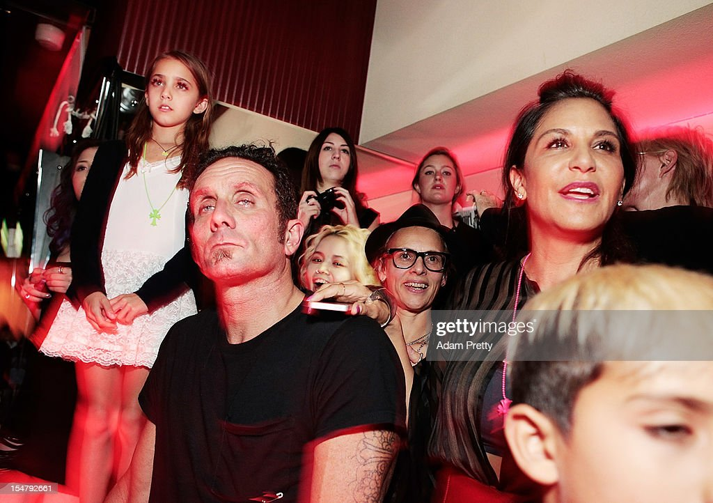 Richard Stark of Chrome Hearts and his family enjoy the show during the ELLEgirl Night in association with Chrome Hearts at Fiat Caffe on October 26, 2012 in Tokyo, Japan.