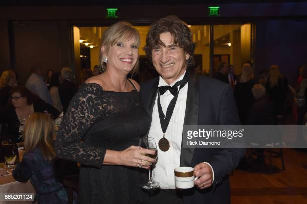 Richard Sterban of The Oak Ridge Boys and wife Donna Sterban attend Medallion Ceremony to celebrate 2017 hall of fame inductees Alan Jackson Jerry...