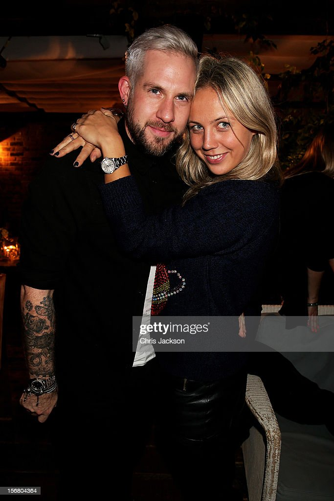 Richard Storer and Tanya Semikoz attend the Vodafone Fashionable Pub Quiz at Shoreditch House on November 21, 2012 in London, United Kingdom. As Principal Sponsor of London Fashion Week, the quiz celebrated Vodafone's commitment to British Fashion.