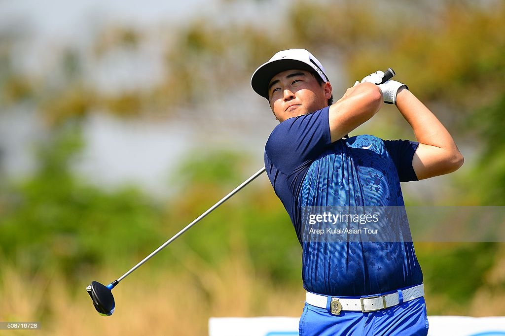 Richard T Lee of Canada pictured during round three of the Leopalace21 Myanmar Open at Royal Mingalardon Golf and Country Club on February 6, 2016 in Yangon, Myanmar.